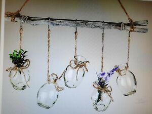 Hänger Zweig Fensterdeko mit 5 Vasen Home Natur Formano