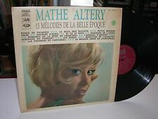 33 TOURS / LP--MATHE ALTERY--13 MELODIES DE LA BELLE EPOQUE