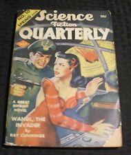 1943 Spring SCIENCE FICTION QUARTERLY Pulp Magazine #10 G/VG 3.0 Ray Cummings