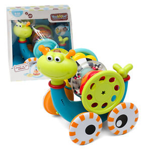 Yookidoo Musical Crawl N' Go Snail Toy with Stacker - Promotes Baby's Crawling
