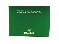 Rolex Warranty Worldwide Service Booklet Manual