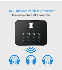 3in1 Bluetooth Audio Transmitter & Receiver Wireless A2DP Home TV Stereo Adapter