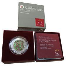 ÖSTERREICH AUSTRIA 25 EURO 2017 DER MIKROKOSMOS MICROCOSM NIOB SILBER BOX COA