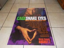 Vintage Snake Eyes movie poster Nicolas Cage 27 x 40 Double sided
