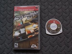 Need for Speed Most Wanted Sony Playstation PSP Video Game Complete with Manual