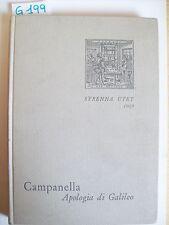 CAMPANELLA - APOLOGIA DI GALILEO - STRENNA UTET - 1969