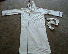 Ladies white hooded full length dressing gown size 6/8 BNIP