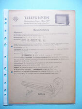 Service Manual-Anleitung für Telefunken Wechselstrom-Super Opus 50 ,ORIGINAL