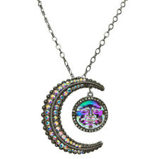 KIRKS FOLLY TO THE MOON & BACK SEAVIEW WATER MOON  PIN PENDANT NECKLACE