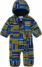 NWT COLUMBIA Snuggly Bunny Bunting HYPER BLUE DOWN FLEECE LINED SNOWSUIT 6-12 M
