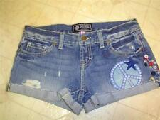 Victoria's Secret Pink NWT Jean Embroidered Accent Distressed Cotton Shorts 0