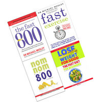 Fast Exercise 800 Quick and Easy Fasting Nom Cookbook 4 Books Collection Set NEW