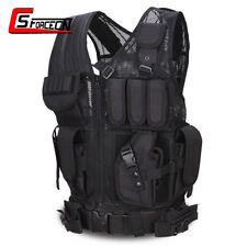 Utility Airsoft Tactical Police SWAT Military Molle Vest with Mag Pouch Black