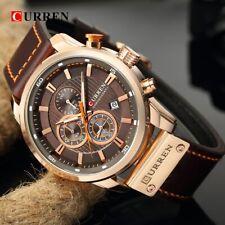be5e97c014ea Reloj hombre elegante con Cronógrafo marron dorado oro rosa Cuartzo - Rf 254