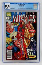 """New Mutants #98 CGC 9.4 White Pages """"Mark Jewelers"""" Newsstand First Deadpool NM"""