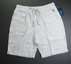 POLO RALPH LAUREN Men's Grey Heather Waffle-Knit Pajama Shorts L NEW NWT