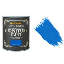 Rust-Oleum Cornflower Bleu Satin Premium Meuble Peinture Shabby Chic 125ml