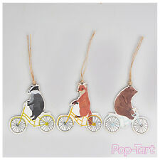 12 x Bike Animals Shabby Chic Paper Gift Tags Vintage DIY Craft Labels + String