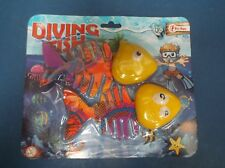 Toy Diving fish Pool fun Yellow colour head weighted to wiggle as it dives