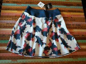 $75 PUMA Golf Women's PowerShape Floral Soft Skirt Skort Shorts  M/L  Pockets 10