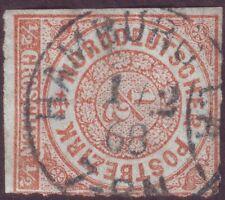 1868 NDP 3 K1g Einkreis-Vollstempel HAMBURG I.A.Feuser NDP 421 Scherenschnitt