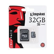 Kingston 2 in 1 Class 10 MicroSD TF Flash Memory Card +Card Adapter 32GB WA5C
