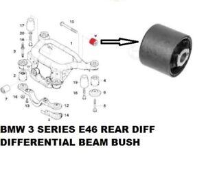 BMW 325 E46 REAR DIFF DIFFERENTIAL BEAM BUSH BUSHING H/D 33176751808