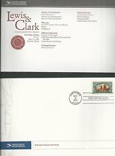 # 3854 LEWIS & CLARK 2004 First Day of Issue Ceremony Program