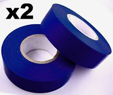 2x 20m Rolls of High Quality PVC Insulation Professional Electricians Tape BLUE