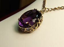 18 carat Gold Ametrine  gemstone Pendant and 9 ct Neck-Chain
