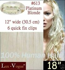 1 Pc Remy Quick Fix Clip In Human Hair Extensions #613