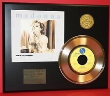 "MADONNA GOLD 45 RECORD ""LIKE A VIRGIN "" RARE LTD EDITION ONLY 500 MADE"
