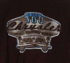 New DaVINCI-Chrysler 300 Muscle Car RACING Embroidered Brown Grey-Camp Collar M