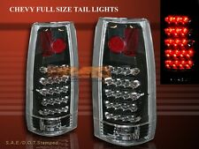 1988-1999 GMC CHEVY CK FULL SIZE SIERRA C10 TRUCK TAIL LIGHTS LED BLACK
