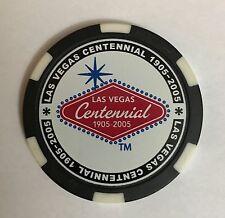 Las Vegas Welcome Sign Centennial Chip Poker Casino Black 100th Anniversary