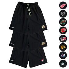 NHL Reebok Centro de Hielo TNT Playdry Rendimiento Negro Equipo Pantalones  cortos de colección para hombre 1f43c843648