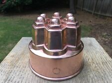 Antique 19th Century Copper Jelly Cake Mould Mold Stamped Jones Bros Downs St.