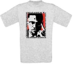 Malcolm X Black Power Islam Revolution T-Shirt alle Größen NEU