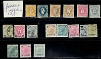 1867- AUSTRIA Turkish Offices Classic Mixed Lot  of 13 Sc#4- Used  See Note