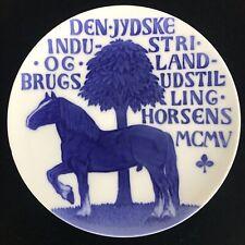 1905 Royal Copenhagen Commemorative Horse Exhibition Plate Antique Arnold Krog