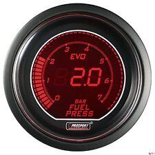 PROSPORT 52mm EVO Series Digital Red / Blue Led Fuel Pressure Gauge BAR
