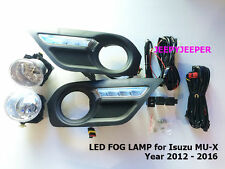 LED DAYTIME FOG LAMP SPOT LIGHT FOR ISUZU MU-X MUX MU X SUV RELAY SWITCH 12 - 16