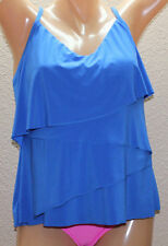 NWT Magicsuit by Miraclesuit Chloe Electric Blue Tiered Tankini Top Sz 8 #M8
