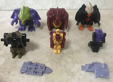 Transformers 1988 monstructor lot of 3 inner bots slog wild fly birdbrain used