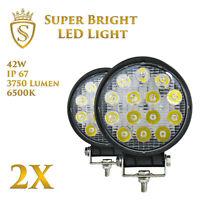 2X 42W LED Arbeitsscheinwerfer Offroad Scheinwerfer 12V 24V für Jeep SUV Bagger
