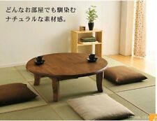 "Japanese Traditional furniture Folding Low Table "" Chabu-dai 90cm"" pine wood F/S"