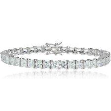Sterling Silver Princess-cut Cubic Zirconia 5x5mm Tennis Bracelet
