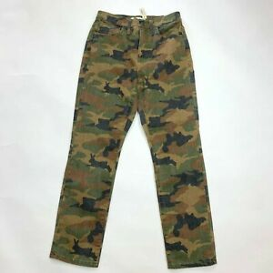 Madewell High Rise Slim Boyjean Camouflage Cottontail  Stretch Women 24 NWT $135
