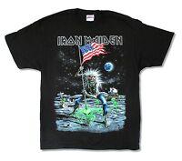 Iron Maiden Moonwalker Final Frontier 2010 US Tour T Shirt New OFFICIAL NOS