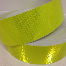 Hi-Vis Yellow Green Vehicle Reflective Safety Tape 50mm x 5m Roll